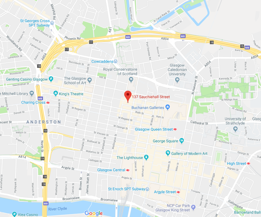 Glasgow office map
